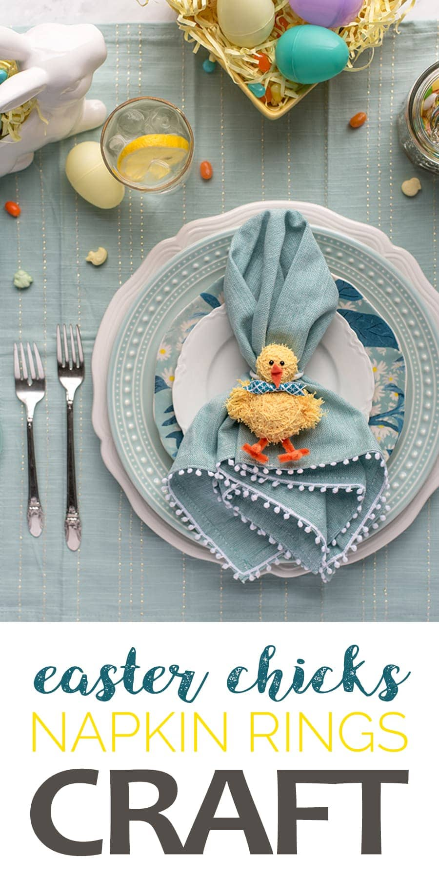 Easter Napkin Rings Pin - DIY Easter Napkin Rings
