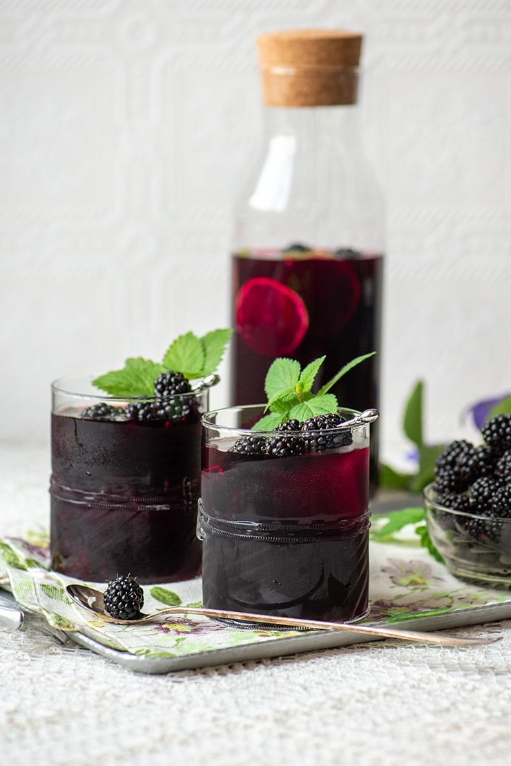 Blackberry Sangria 0039 Web - Easy Blackberry Sangria- Make a pitcher or a single glass!