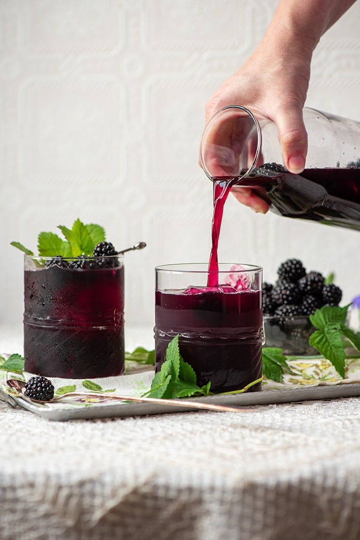 Blackberry Sangria 00955 Web - Easy Blackberry Sangria- Make a pitcher or a single glass!