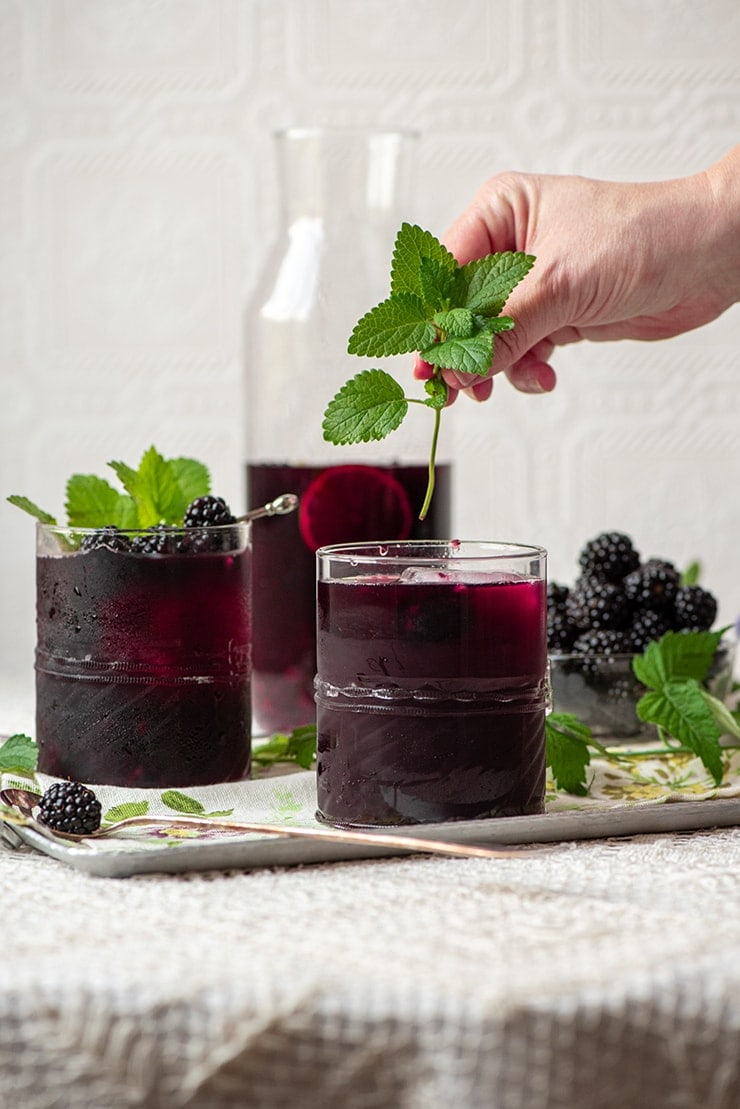 Blackberry Sangria 0100 Web - Easy Blackberry Sangria- Make a pitcher or a single glass!