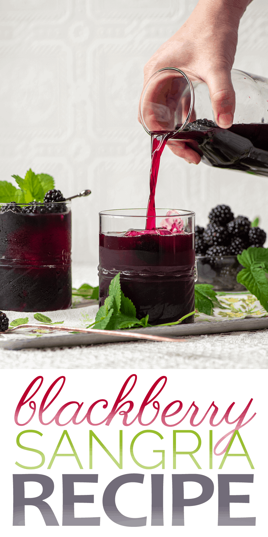 Blackberry sangria recipe - Easy Blackberry Sangria- Make a pitcher or a single glass!