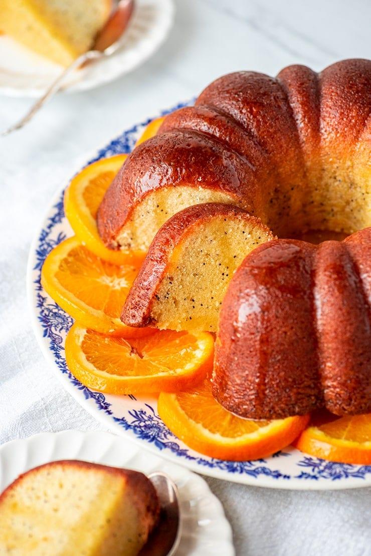 Orange Poppyseed Bundt Cake 1289 web - Orange Poppy Seed Bundt Cake #MyVintageRecipe