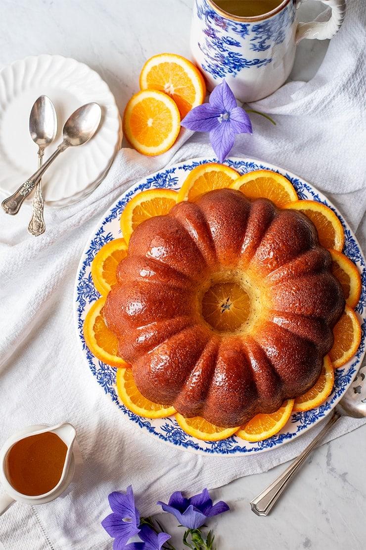 Orange Poppyseed Bundt Cake Composite 1172 cropped web  - Orange Poppy Seed Bundt Cake #MyVintageRecipe