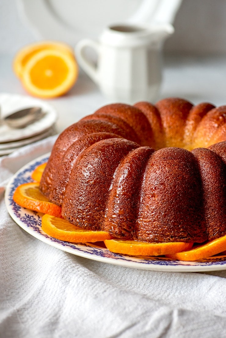 Orange Poppyseed Bundt Cake 1200 Web - Orange Poppy Seed Bundt Cake #MyVintageRecipe