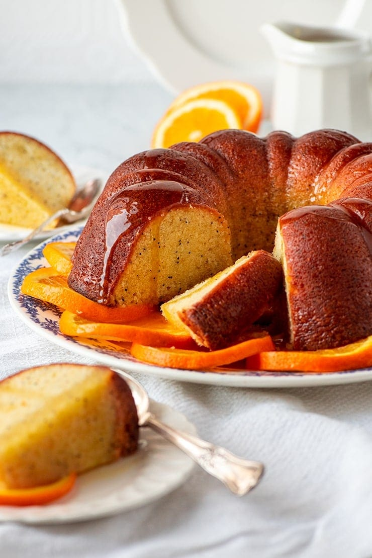 Orange Poppyseed Bundt Cake 1263 web - Orange Poppy Seed Bundt Cake #MyVintageRecipe