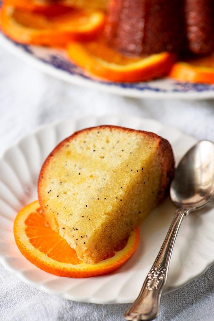 slice of range poppy seed cake