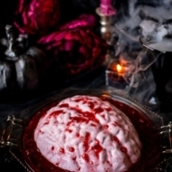 Brain Panna Cotta Halloween Dessert