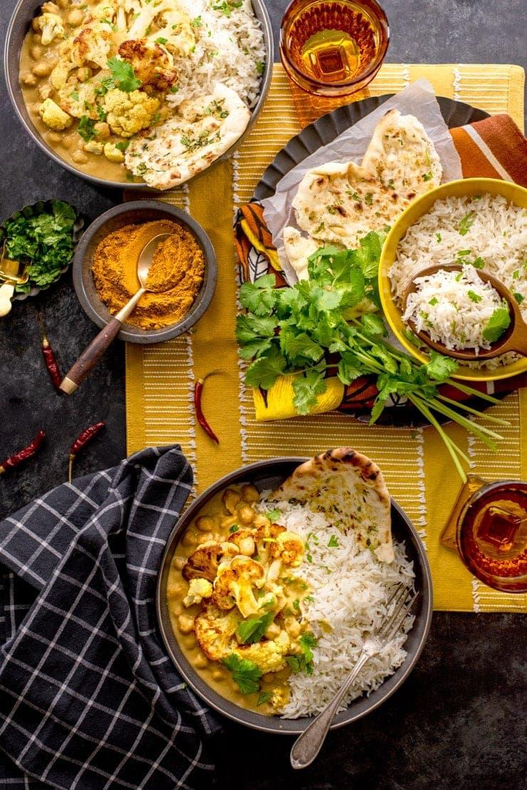 Cauliflower Curry 4526 Web - Cauliflower Curry with Chickpeas and Coconut Milk