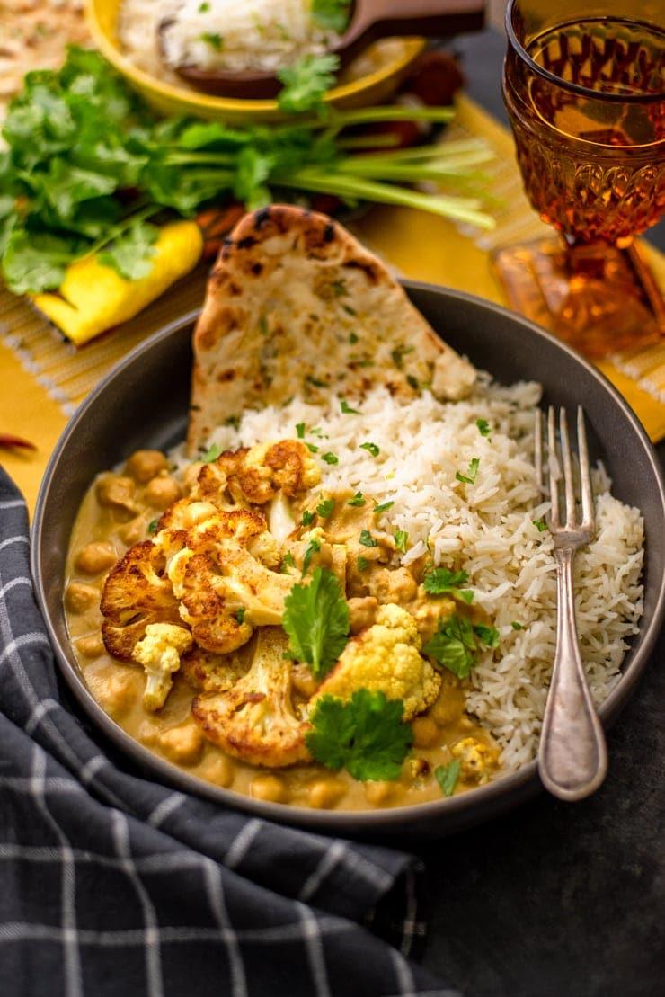 Cauliflower Curry 4563 Web - Cauliflower Curry with Chickpeas and Coconut Milk