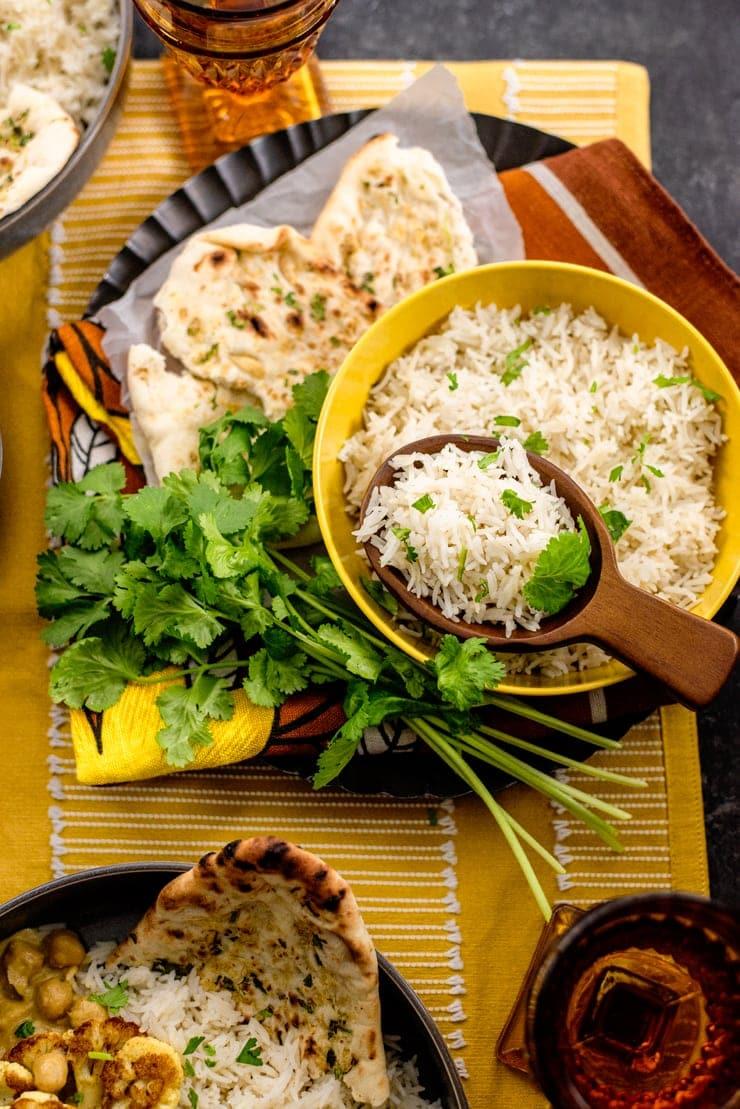 Cauliflower Curry 4573 web - Cauliflower Curry with Chickpeas and Coconut Milk