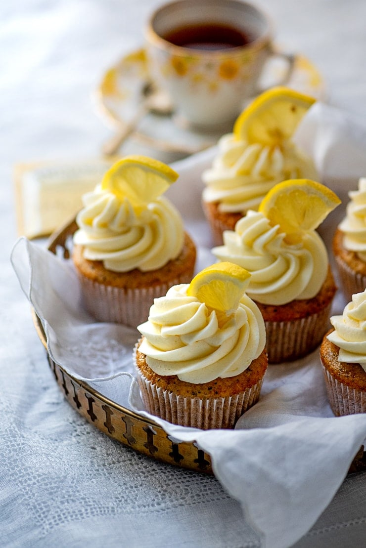 Earl Grey Cupcakes 5376 Web - Earl Grey Cupcakes with Lemon Buttercream
