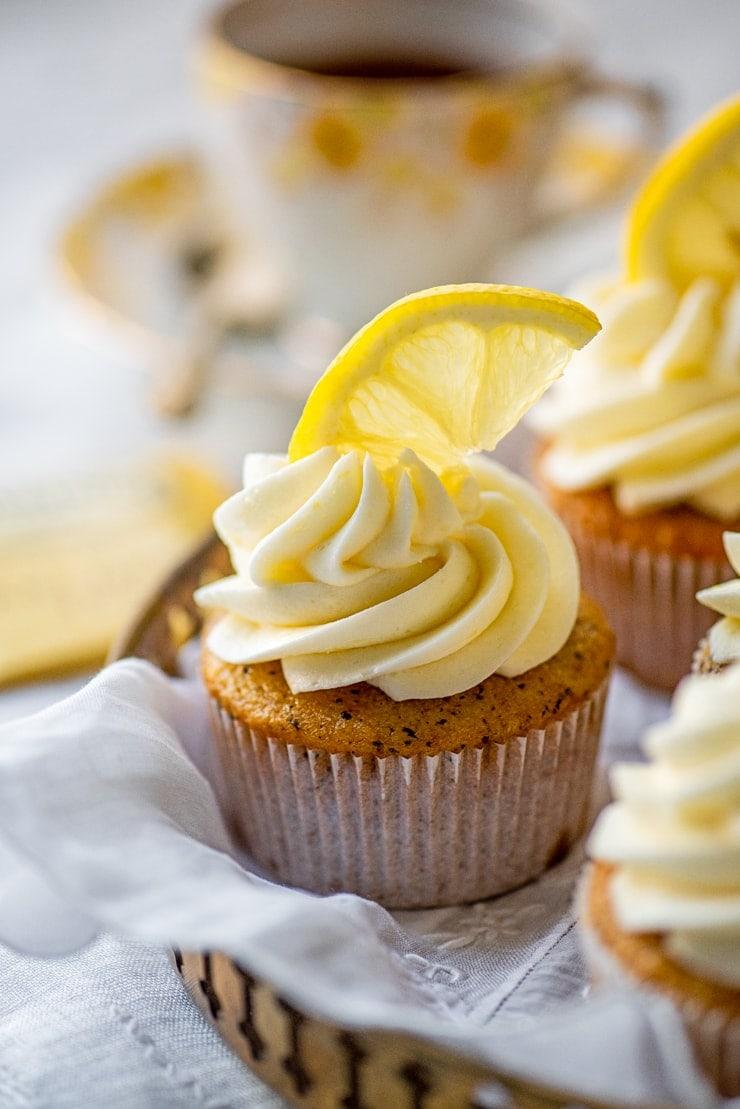 Earl Grey Cupcakes 5387 Web - Earl Grey Cupcakes with Lemon Buttercream