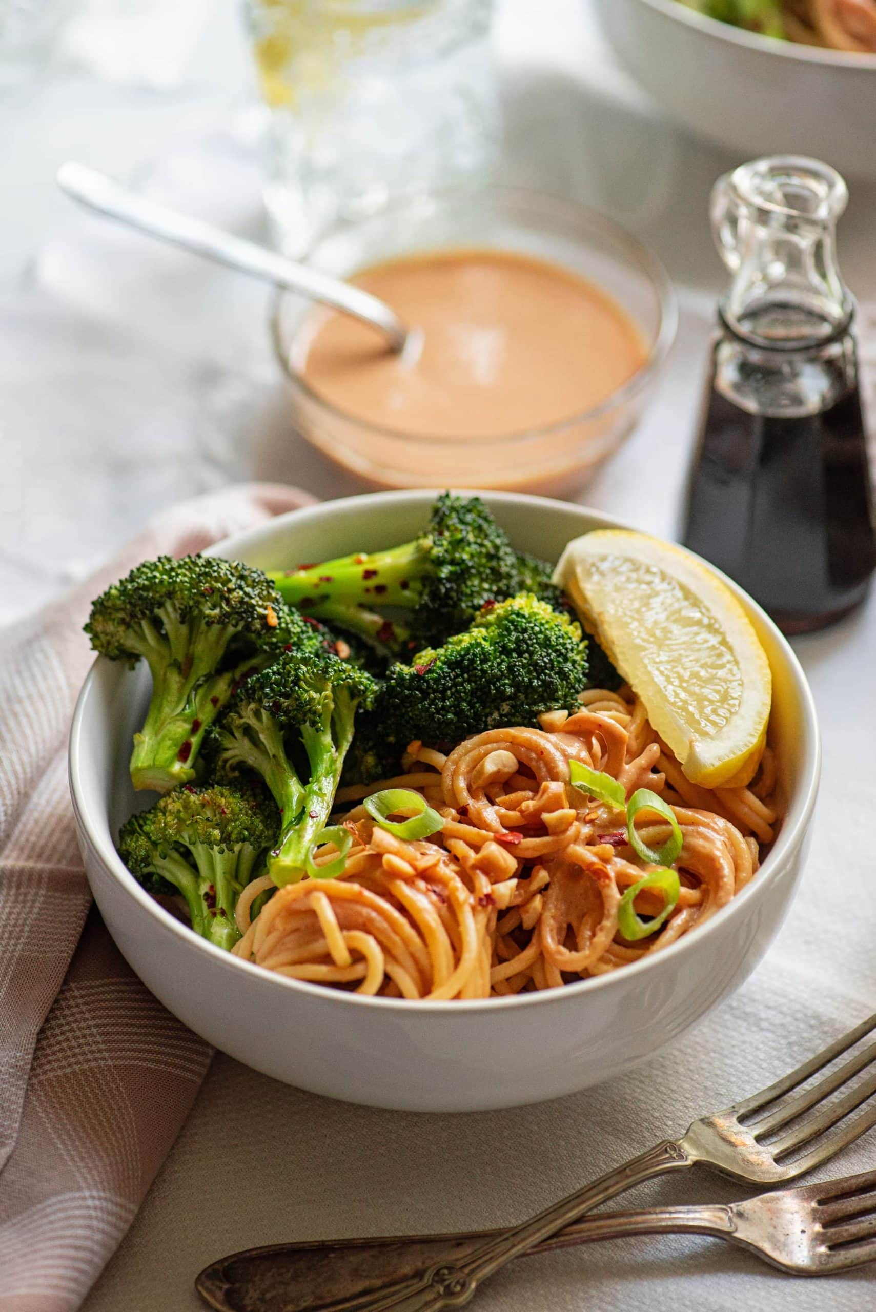Roasted Broccoli with Peanu Noodles 6109 Web 2 scaled - Roasted Broccoli with Peanut Noodles