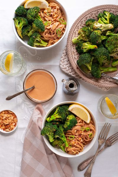 Roasted Broccoli with Peanut Noodles 6090 3 400x600 - Roasted Broccoli with Peanut Noodles