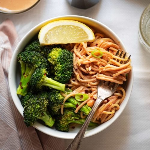 Roasted Broccoli with Peanut Noodles 6131 2 500x500 - Roasted Broccoli with Peanut Noodles