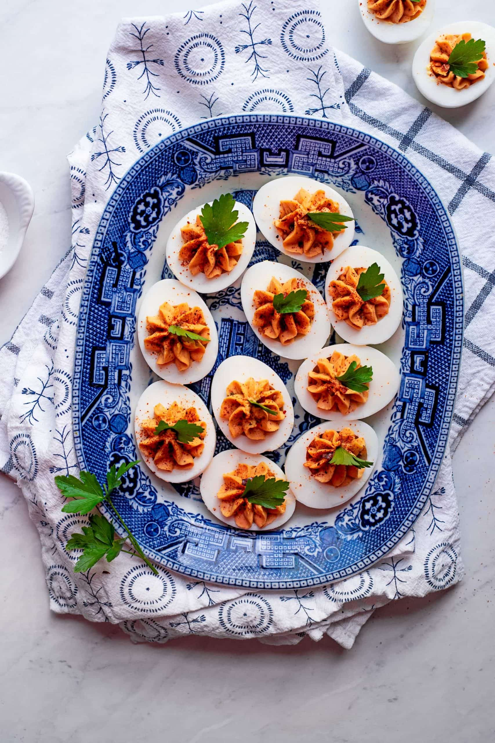 Harissa Deviled Eggs 6487 scaled - Instant Pot Harissa Deviled Eggs
