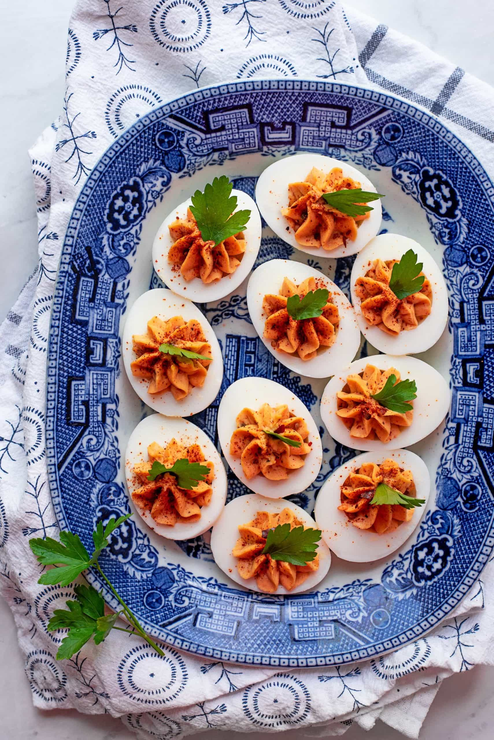 Harissa Deviled Eggs 6495 2 scaled - Instant Pot Harissa Deviled Eggs