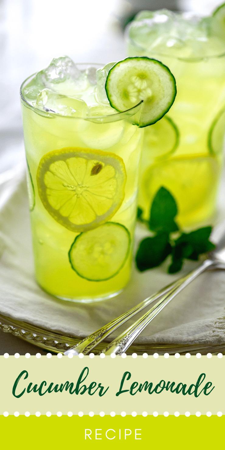 Cucumber Lemon Recipe Pin - Refreshing Summertime Cucumber Lemonade