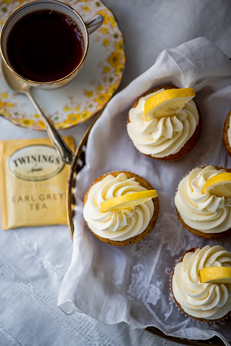 Earl Grey Cupcakes 5428 800px - Earl Grey Cupcakes with Lemon Buttercream