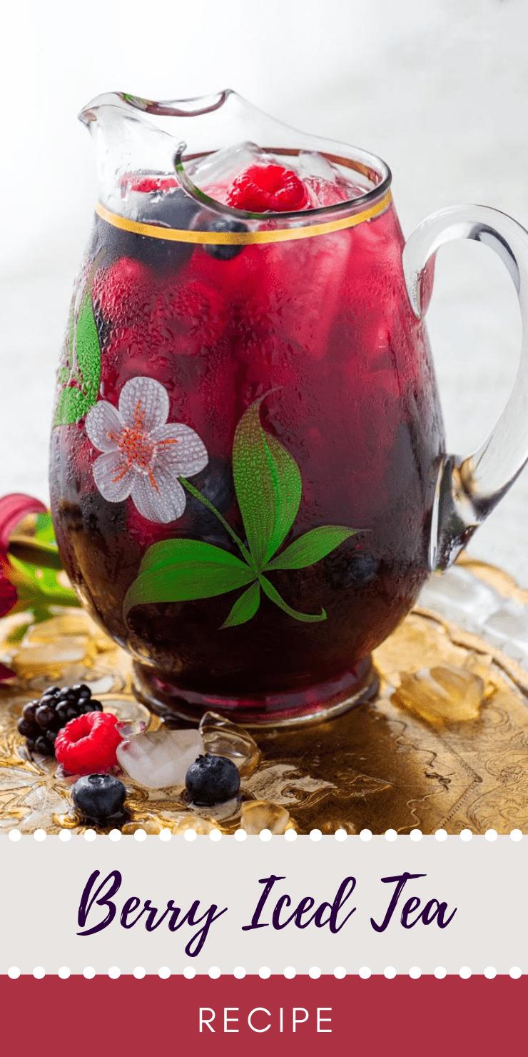 Berry Iced Tea  - The Best Homemade Berry Iced Tea