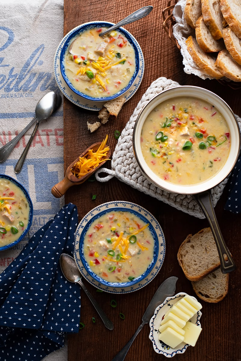 Creamy Chicken Corn Soup 8674 800px - Comforting Creamy Chicken Corn Soup with a Hint of Heat