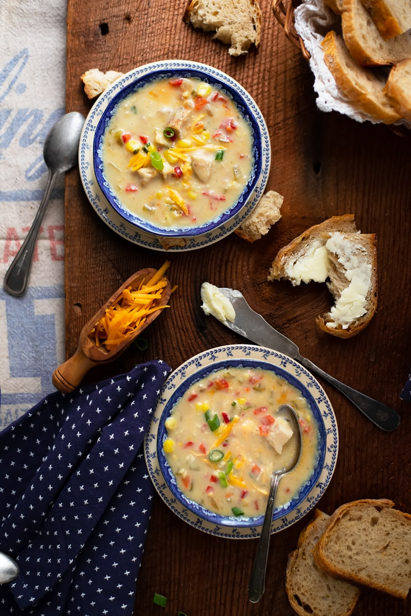 Creamy Chicken Corn Soup 8780 800px - Comforting Creamy Chicken Corn Soup with a Hint of Heat