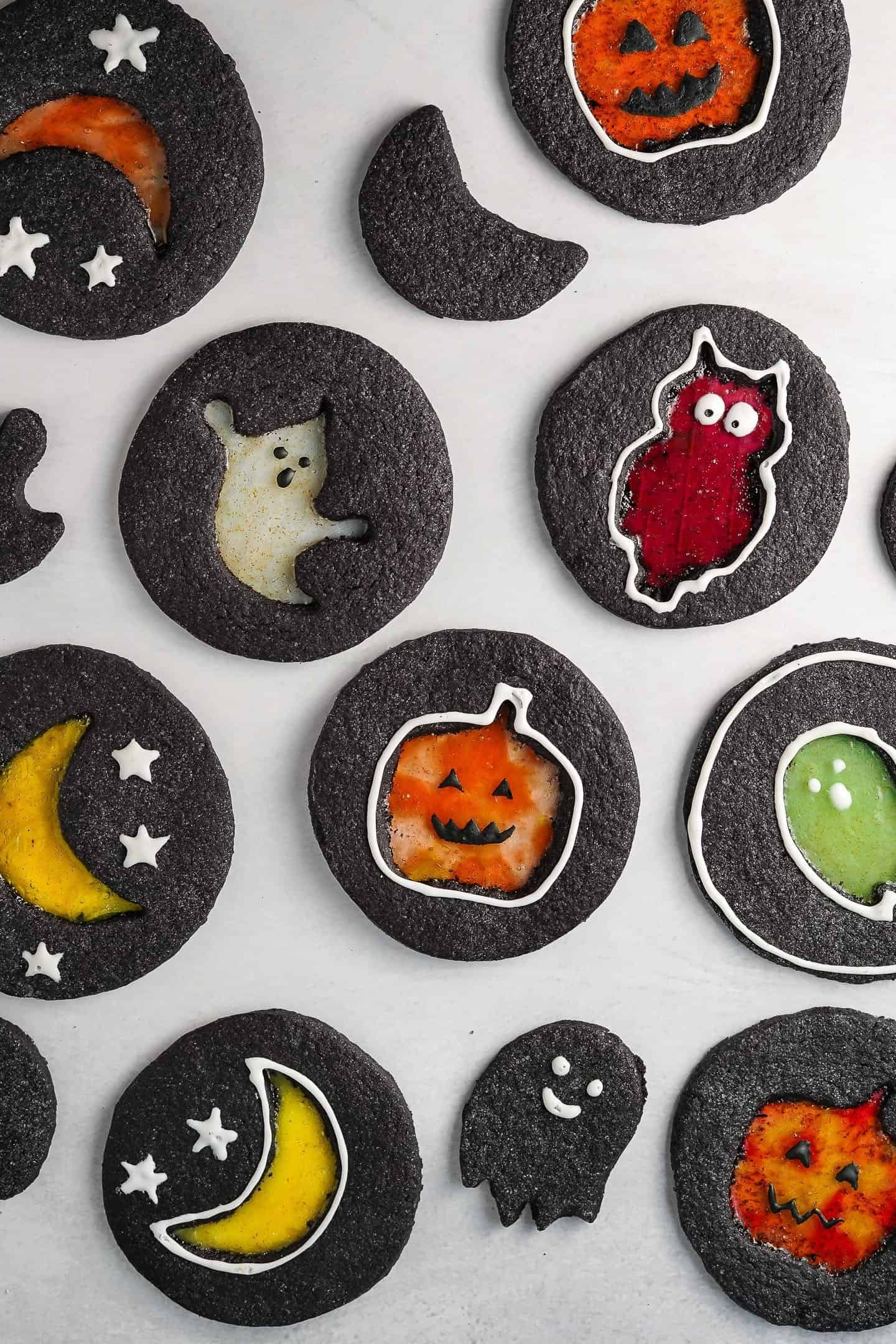 Halloween Windowpane Cookies 2 - Ghoulishly Good! Halloween Party Recipes and Ideas
