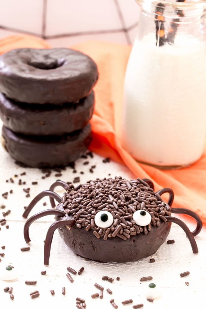 Mini Chocolate Spider Donuts 1 683x1024 1 - Ghoulishly Good! Halloween Party Recipes and Ideas