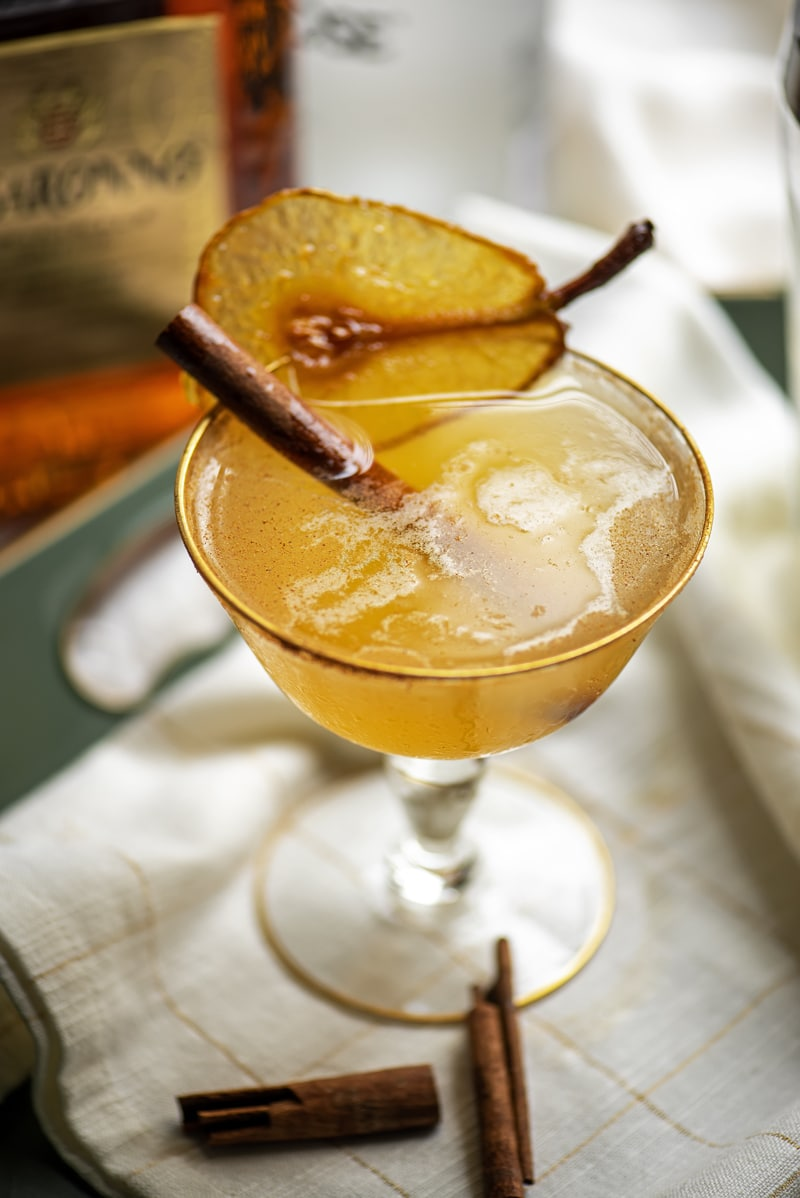 Spiced Pear Martini 9145 800px - Spiced Pear Martini with Amaretto and Cardamom Bitters