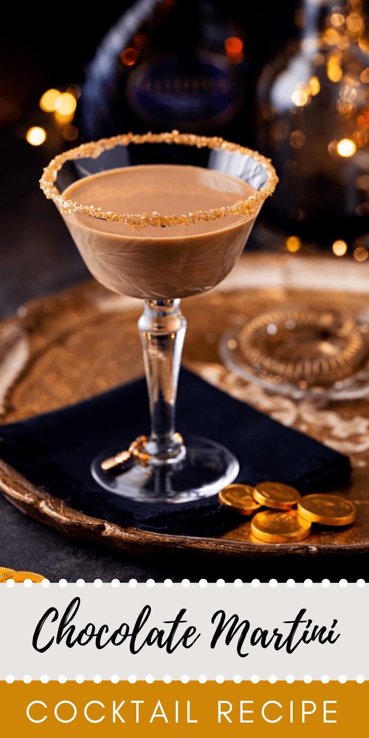Chocolate Martini 1 - Festive Holiday Chocolate Martini with Coffee Liqueur