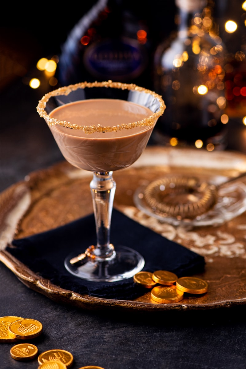 Chocolate Martini 1230 cropped 800px - Festive Holiday Chocolate Martini with Coffee Liqueur