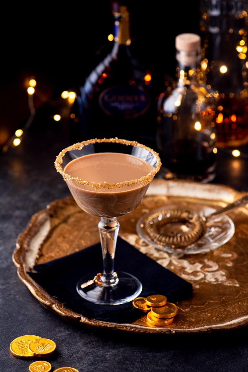 Chocolate Martini 1235 800px - Festive Holiday Chocolate Martini with Coffee Liqueur