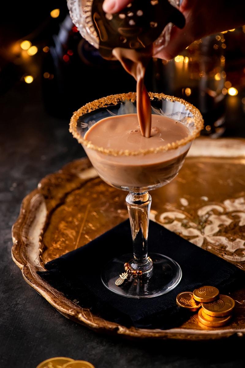 Chocolate Martini Composite 1302 800px - Festive Holiday Chocolate Martini with Coffee Liqueur