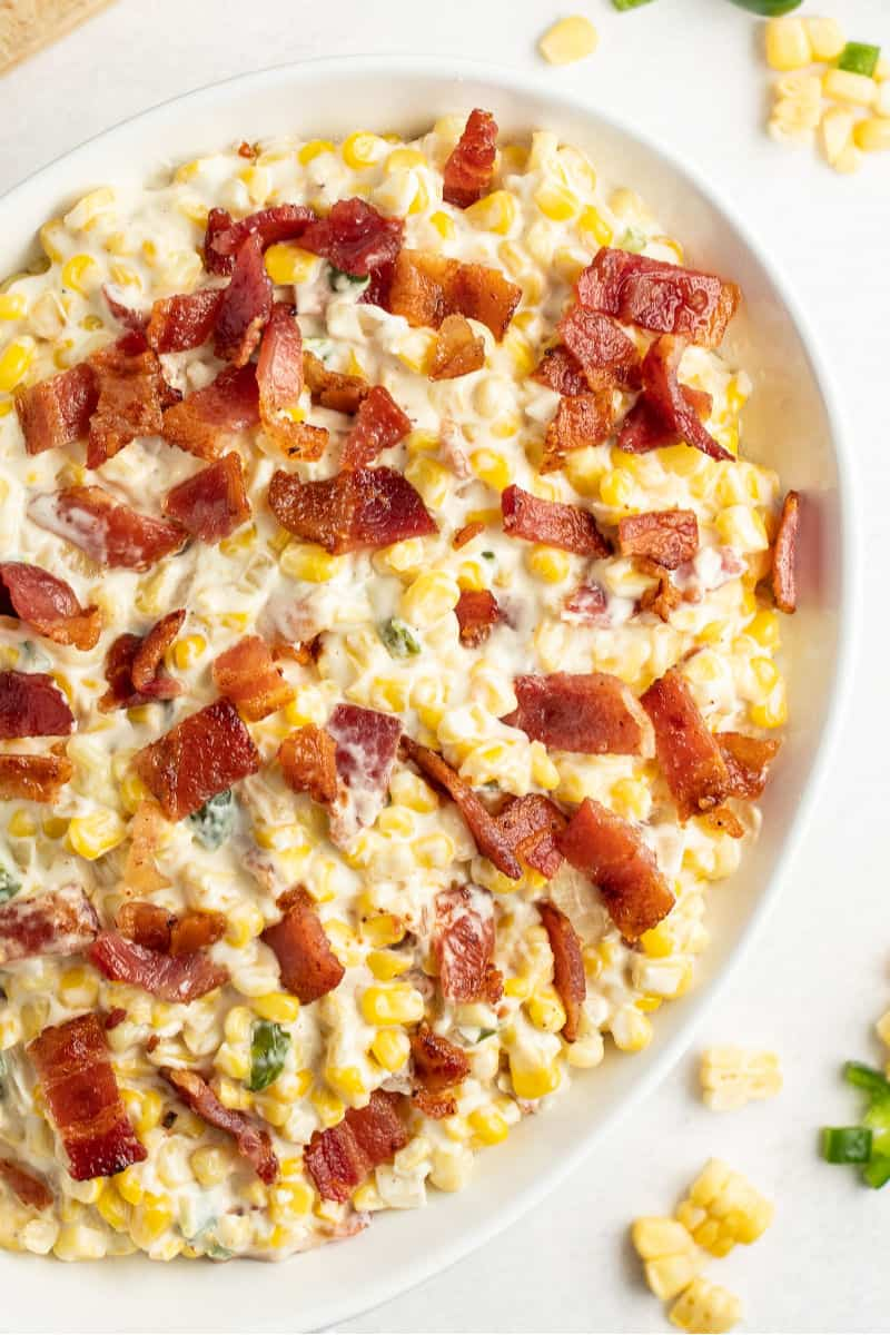 Easy Creamed Corn with Bacon 4 - Mouthwatering Thanksgiving Menu Ideas
