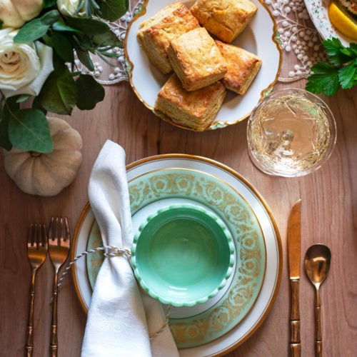Thanksgivng Dinner 0692 800px 500x500 - Buttermilk Cornmeal Biscuits