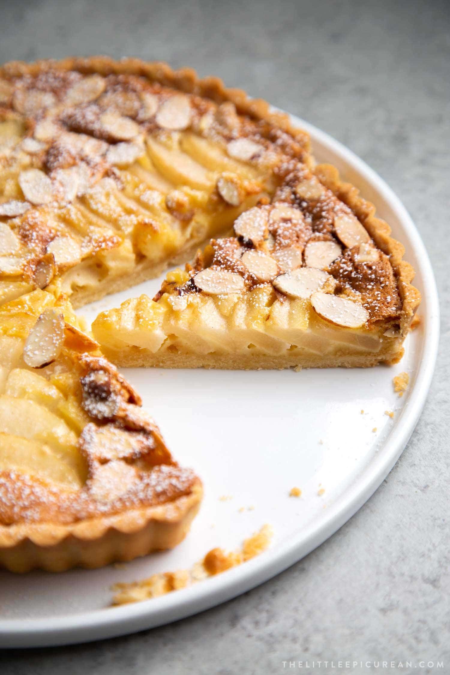 pear frangipane tart slices - Mouthwatering Thanksgiving Menu Ideas