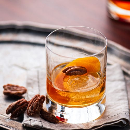 Pecan Bourbon Old Fashioned 1772 800px 500x500 - Pecan Bourbon Old Fashioned Cocktail Recipe