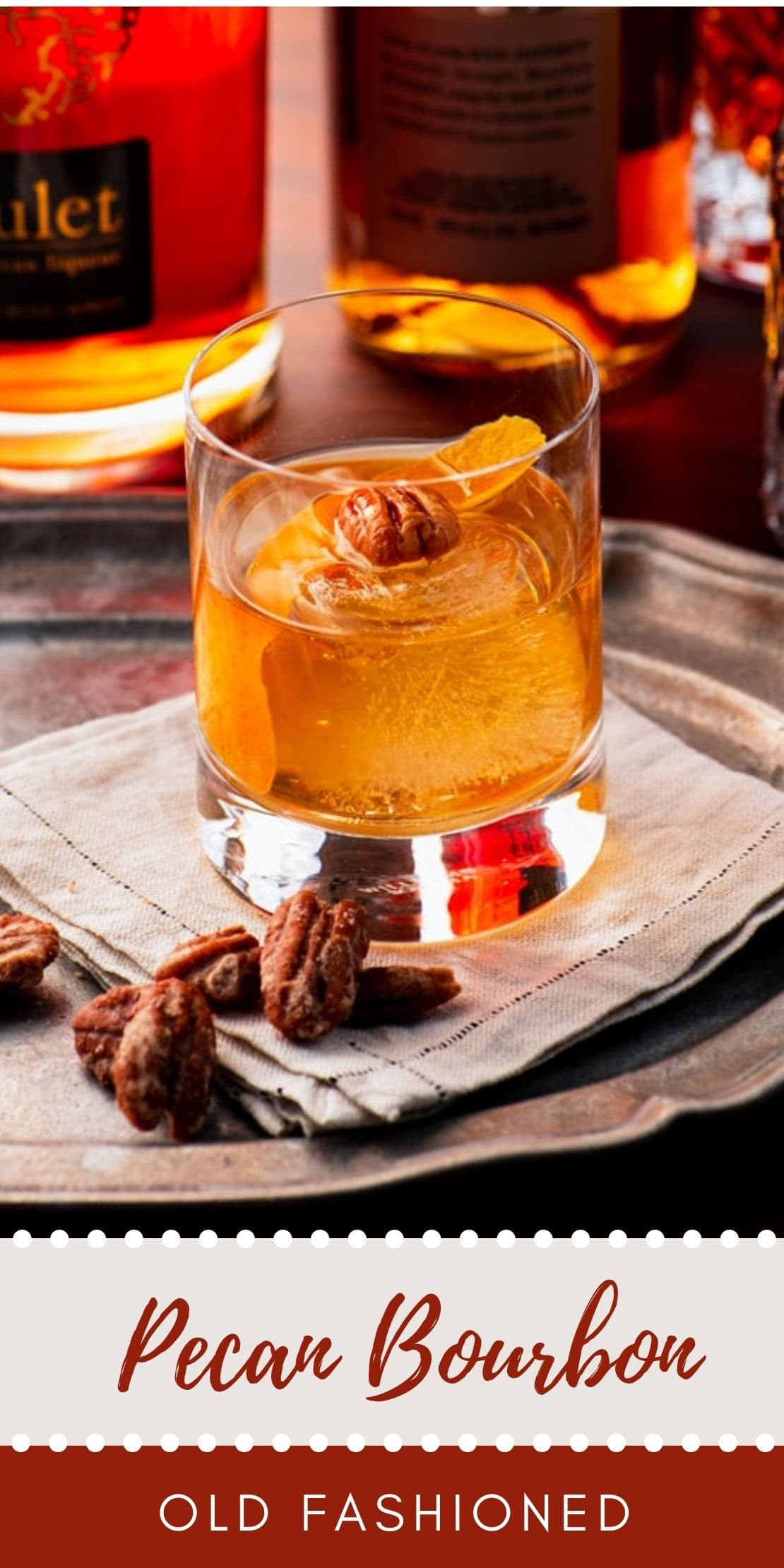 Pecan Bourbon Old Fashioned Cocktail - Pecan Bourbon Old Fashioned Cocktail Recipe