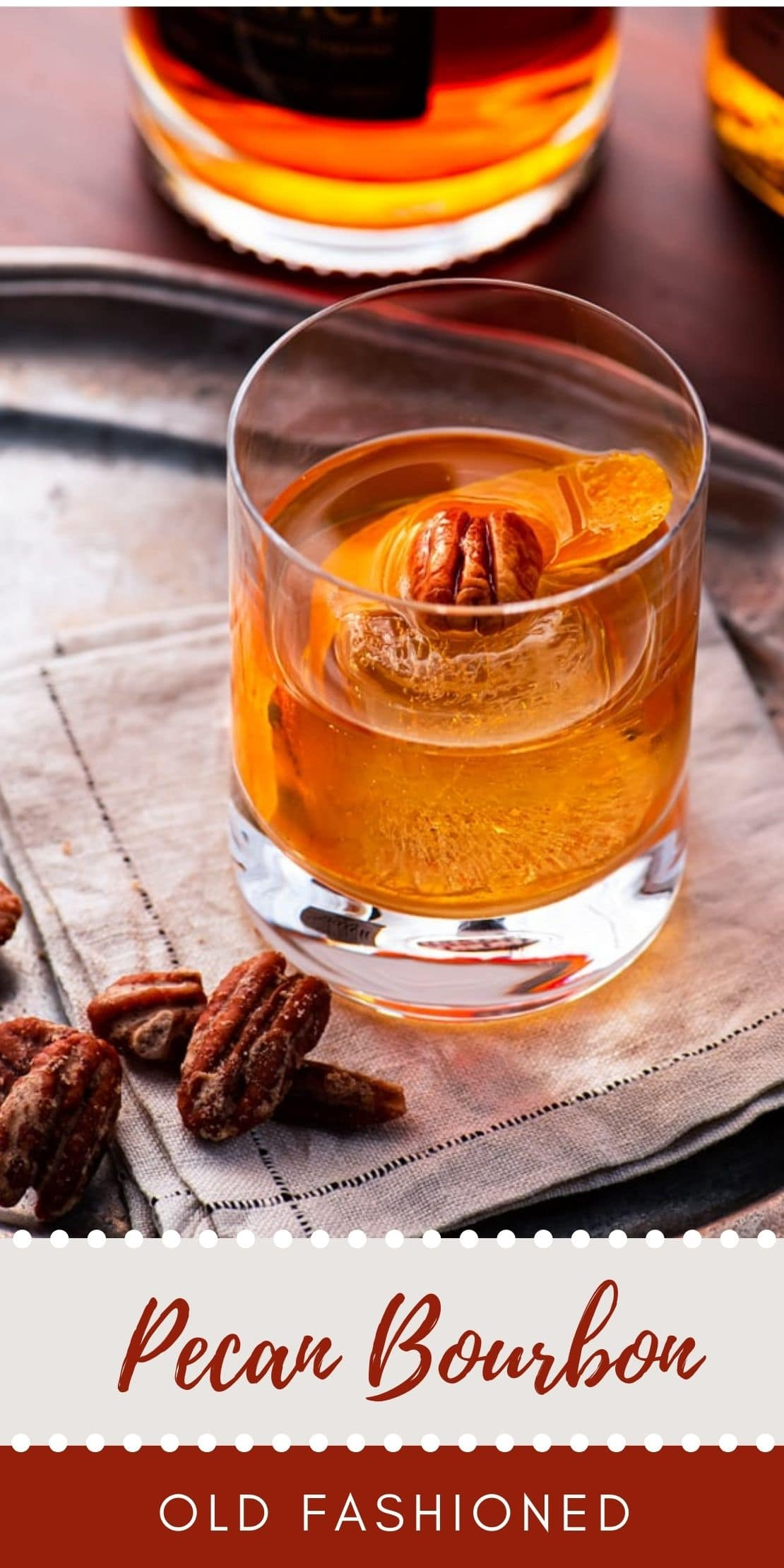 Pecan Bourbon Old Fashioned - Pecan Bourbon Old Fashioned Cocktail Recipe