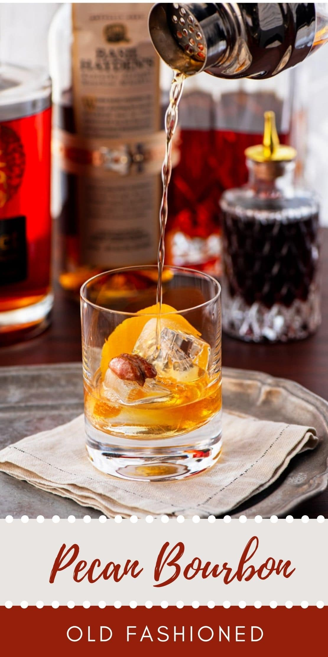 Pecan Old Fashioned - Pecan Bourbon Old Fashioned Cocktail Recipe